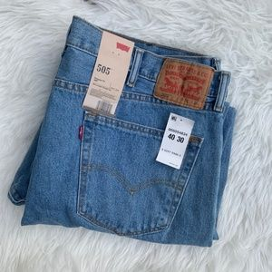 Levi's Jeans - NWT Levi's Mens 505 Regular Fit Blue Jeans 40 X 30